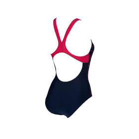 arena Brilliance Swim Pro Back B One Piece Swimsuit Women navy/freak rose